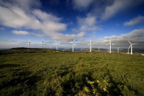 Parque Eólico de Eufer en Galicia