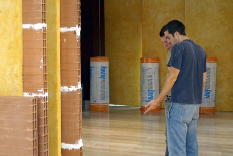 Los sistemas constructivos que se montaban in situ podían ser examinados por los invitados más tarde.