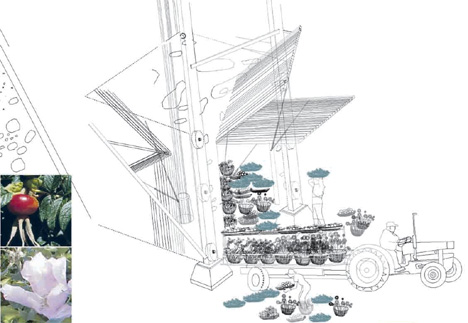 "Holcim Awards ""Next Generation"" 1st prize 2008 - Production and ecological cluster, New Haven, UK"