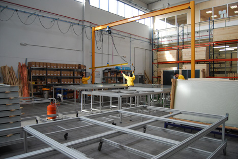 Fábrica de captadores solares de Wagner Solar en Leganés (Madrid).