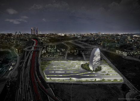 Fotografía: panorámica nueva sede BBVA (vista nocturna)