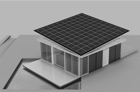Detalle del Prototipo de la Casa Solar de la UPM 2009