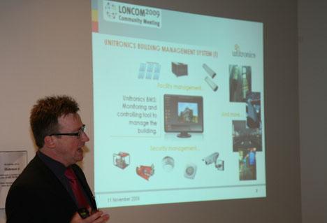 """Ponencia """"Connected Building: Welcome to Sustainable Connectivity"""" ofrecida por Jose Luis Maupoey, Director de la Unidad de Negocio."""