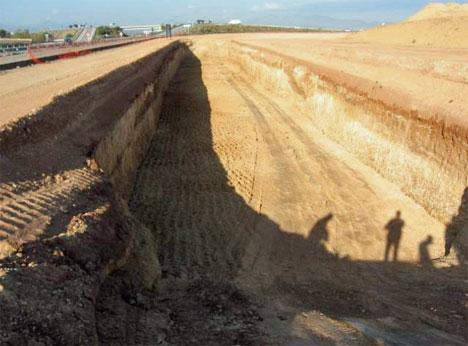Excavación del terreno