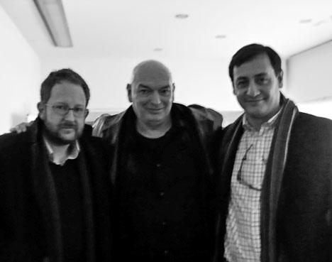 Javier García y Alfredo Rodríguez (socios de Lumo Arquitectos) junto a Jean Nouvelle.