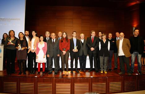 Foto de grupo de los ganadores de los Premios Cerámica de Arquitectura e Interiorismo ASCER
