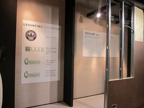 Detalle muro Techlam y certificaciones ambientales de Levantina