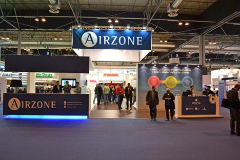 Stand de Airzone en Climatización 2011