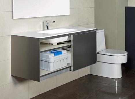 Ecohoe Solutions presenta AQUS, sistema de ahorro y reciclaje de agua descentralizado para baños.