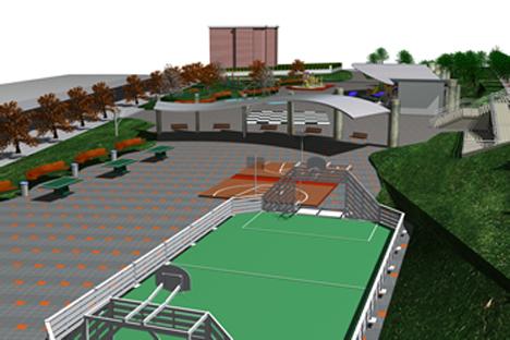 El parque Gernika de Gexto incorporará un pavimento ecológico que capta CO2 y elimina los gases contaminantes.