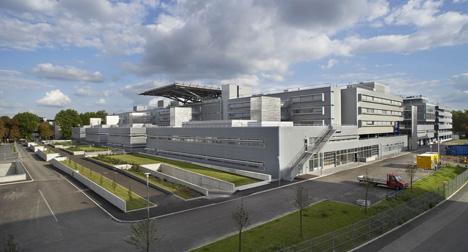 Vista exterior del Hospital de Estrasburgo