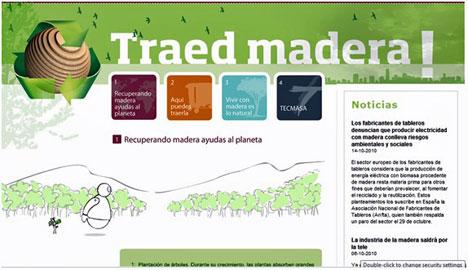 Tafibra lanza su nueva web para fomentar el reciclaje de la madera.