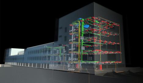 Modelo constructivo virtual de las instalaciones del Centro de Servicios Sociales de Coslada, por la consultoría gd-INCO
