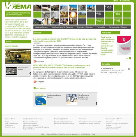 Página web de la Fundación CEMA