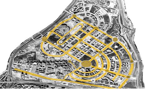 Plano de situación de las rotondas del proyecto