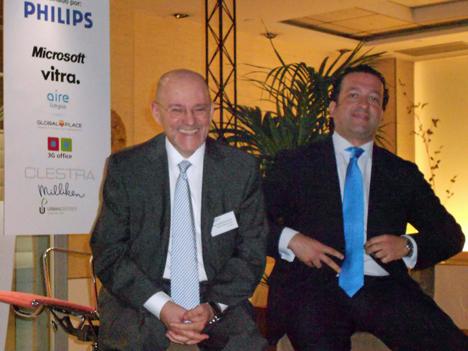 Jorge Zanoletty, Presidente de WOF a la dcha. y David Martinez Olmo, Director de Alumbrado Interior de Philips