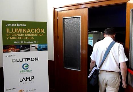 """Jornada Técnica """"Iluminación, Eficiencia Energética y Arquitectura"""" celebrada en la Escuela Técnica Superior de Arquitectura de Madrid."""