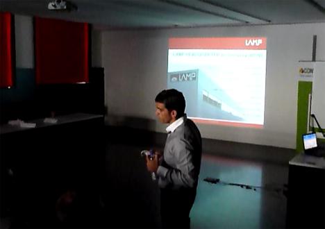 Josep Ventura. Director Alumbrado Público de LAMP, durante la ponencia sobre Street Lighting.