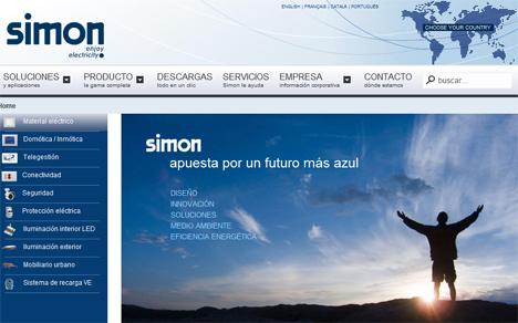 Nueva web de Simon.