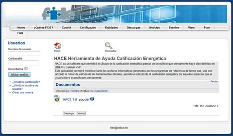 HACE es un software específico para la certificación energética de los edificios.