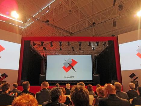 Ceremonis de entrega de los Holcim Awards Europe 2011 en Milán.