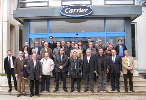 Algunos de los visitantes a las instalaciones de Carrier