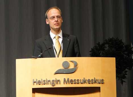 El Doctor en tecnología Diatrich Schmidt, del Instituto Fraunhofer y co-presidido por Lars Nielsen