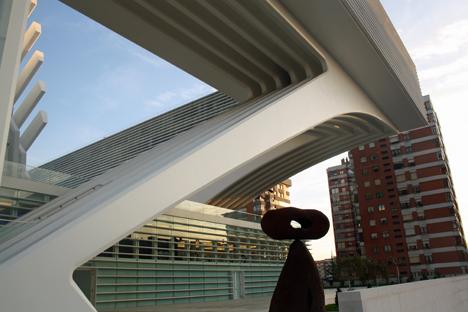 Palacio de Exposiciones y Consgresos de Oviedo, obra de Santiago Calatrava.