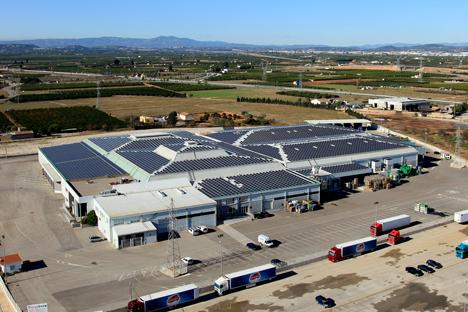 La planta fotovoltaica de Anecoop