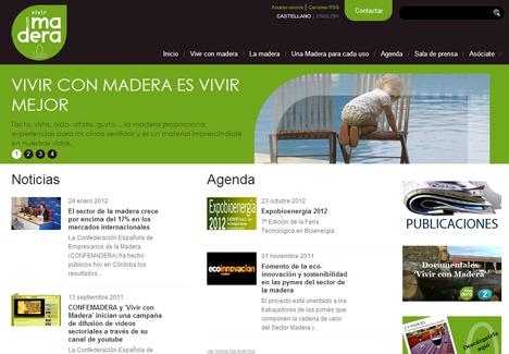 Nueva web vivirconmadera