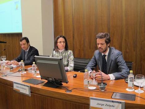 Jorge Zelada, de Aguirre Newman, en la presentacón del informe