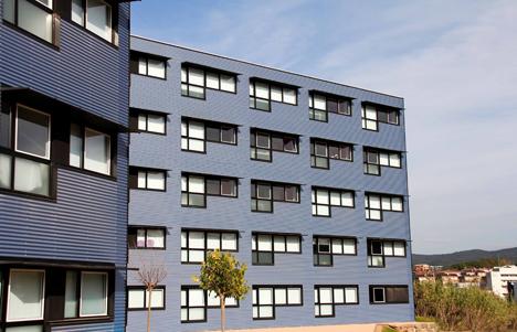 Viviendas universitarias en el Campus de Montilivi de Girona, Compact Habit