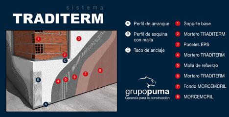 Sistema de aislamiento Traditerm de Grupo Puma