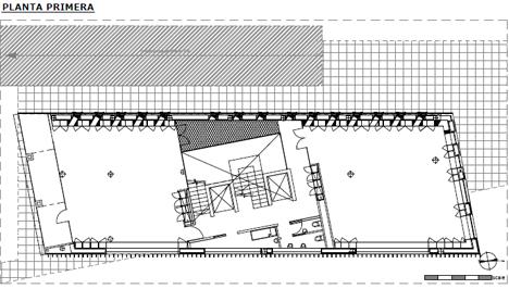 Edificio FBAL, plano planta primera
