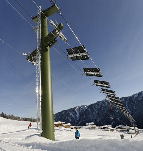 Estación de Tenna cuenta con el primer telesquí del mundo alimentado por energía solar, por Siemens