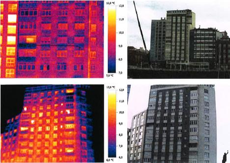 Imágenes termográficas antes de la rehabilitación