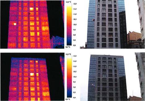 Imágenes termográficas del edificio rehabilitado