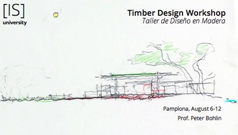 Timber Design Workshop en la Escuela de Arquitectura de la Universidad de Navarra.