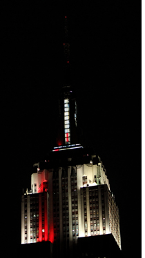Empire State Building, con iluminación LED de Philips