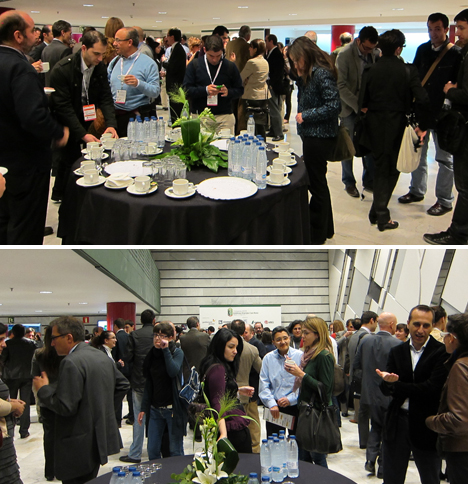 Pausa cafe y comida en el I Congreso de EECN