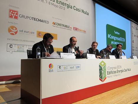 Mesa redonda, de izq. a dcha.: Florencio Manteca, Carlos Expósito, Jose Antono Granero, Francisco Sanjuan y Juan Mera