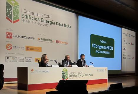 Inauguración I Congreso de EECN: Inés Leal, Alejando Halffter y Alejandro Páez, de izq. a dcha.