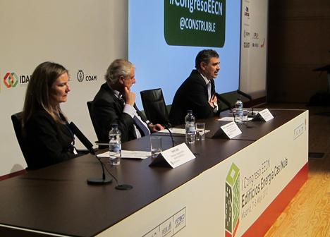 Inés Leal, Alejando Halffter y Alejandro Páez, de izq. a dcha.