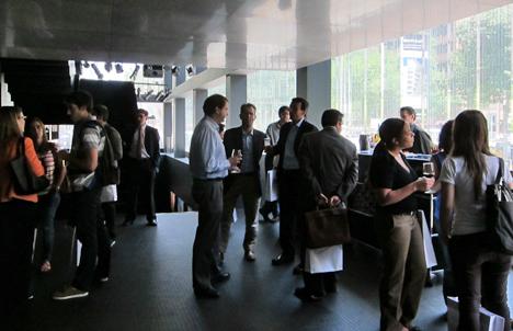 Jornada Técnica Materiales y Soluciones Constructivas Innovadoras, Barcelona, pausa-café