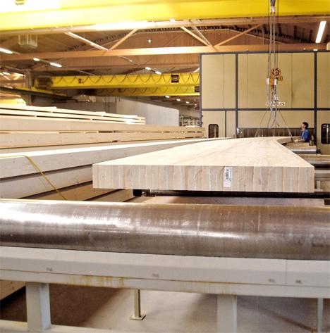 Fabricación de una viga de madera