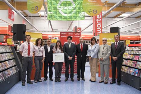 Worten ha obtenido para su tienda madrileña de Alcorcón la certificación ISO 14001:2004
