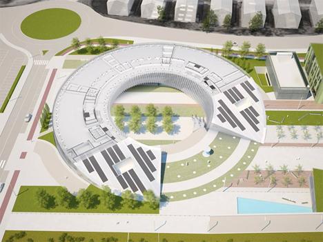 Vista aérea de orona IDeO-innovation city