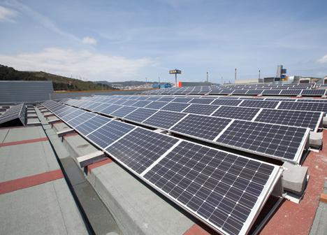 Paneles solares en Marineda City