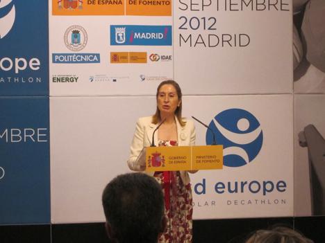 Ana Pastor, Ministra de Fomento en la presentación de SDE 2012