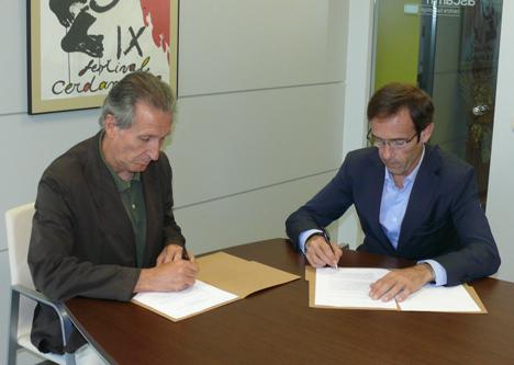 Ascamm, Xavier López y por el Director General de ITeC, Antón Mª Checa